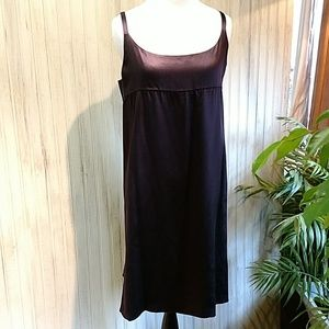 Eileen Fisher Plum Silk Cami Dress, lined, NWOT